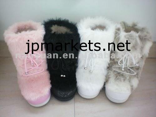 2012ファッション女性のキツネの毛皮のスノーブーツ問屋・仕入れ・卸・卸売り