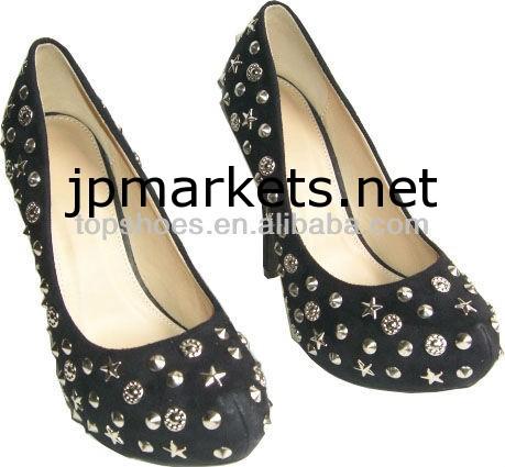 スタッズハイヒールの靴女性のダイヤモンドの靴問屋・仕入れ・卸・卸売り