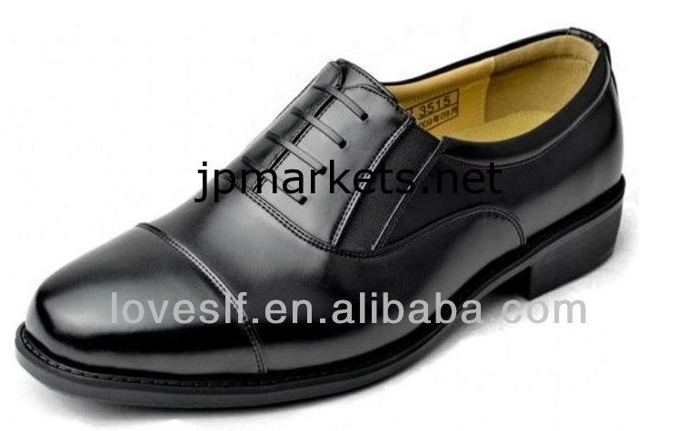 新しい黒の本革のファッションの軍事オフィスシューズLoveslf問屋・仕入れ・卸・卸売り