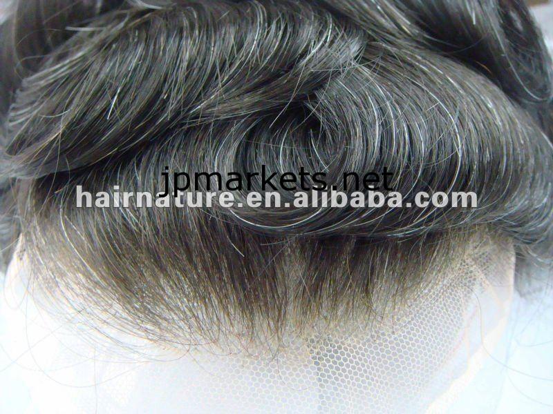 即納超自然な見えないヘアラインメンズかつら、髪の交換、かつら、ヘアシステム問屋・仕入れ・卸・卸売り