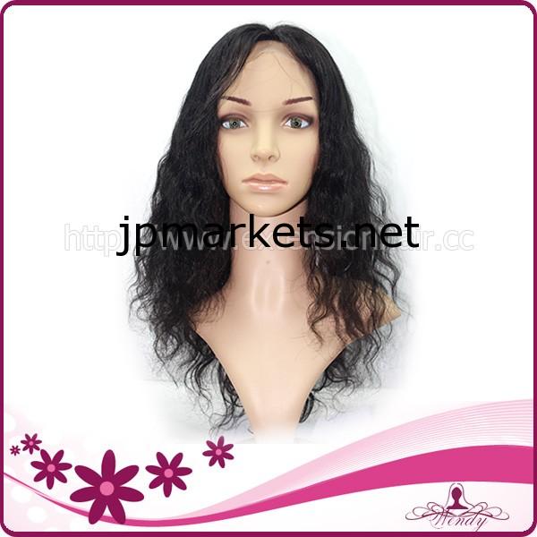当業者緩いウェーブ自然な色の完全なレースバージンブラジル人間の毛のかつら100%手作り問屋・仕入れ・卸・卸売り