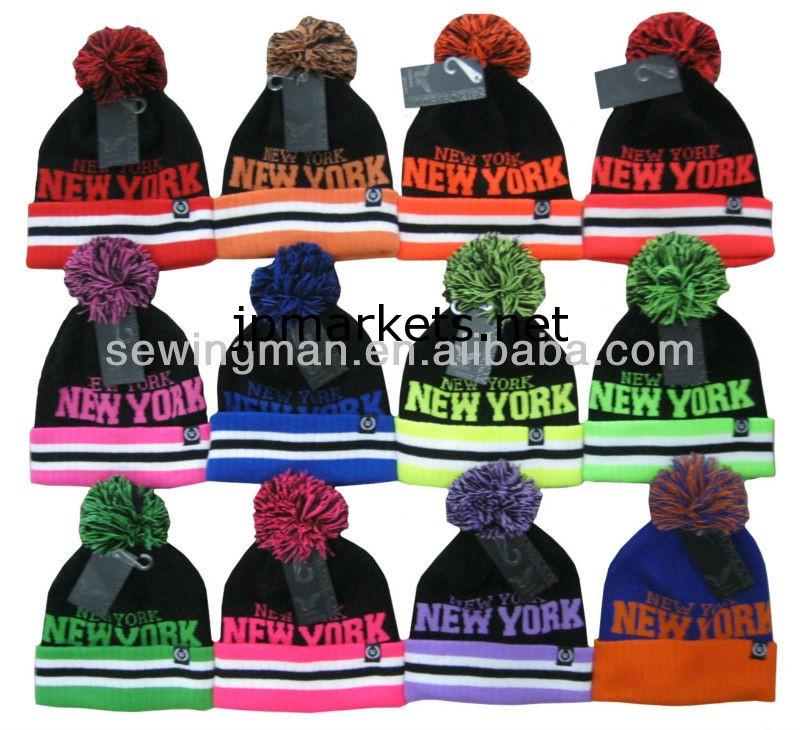 ニューヨーク蛍光colour100%のアクリルビーニー帽問屋・仕入れ・卸・卸売り