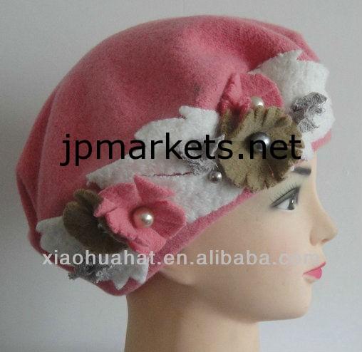 2013ファッションの新しいスタイルの女性の冬のニットのウールのベレー帽問屋・仕入れ・卸・卸売り