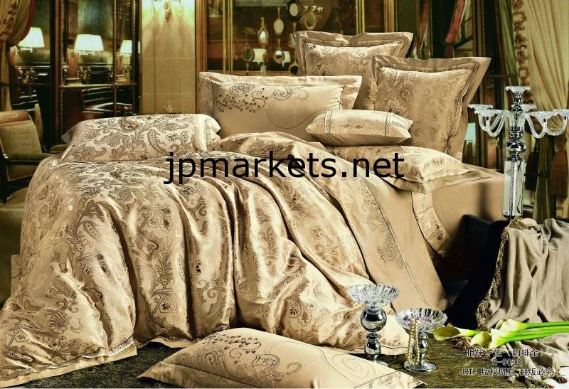 ジャガード&刺繍フェイクシルク寝具セット/ベッドリネン/寝具sets.Elegance寝具問屋・仕入れ・卸・卸売り
