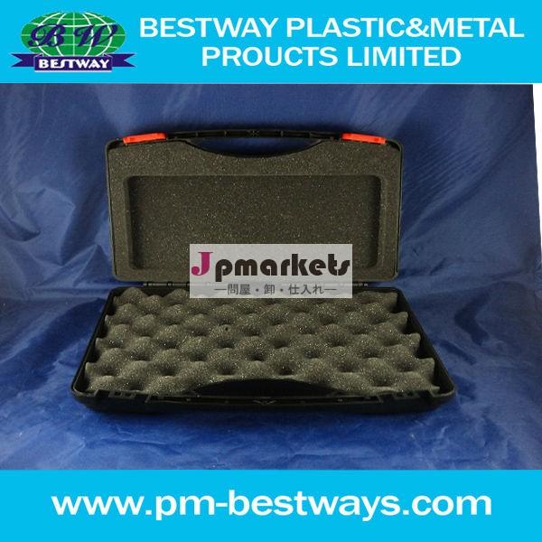 プラスチック製キャリング水密低価格と防塵crushproofプラスチック金型の場合発泡インサート付きプラスチック金型問屋・仕入れ・卸・卸売り