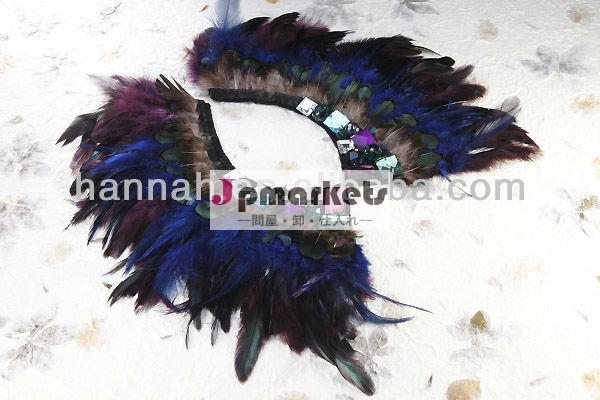 新しい流行クジャクの羽のネックレス問屋・仕入れ・卸・卸売り