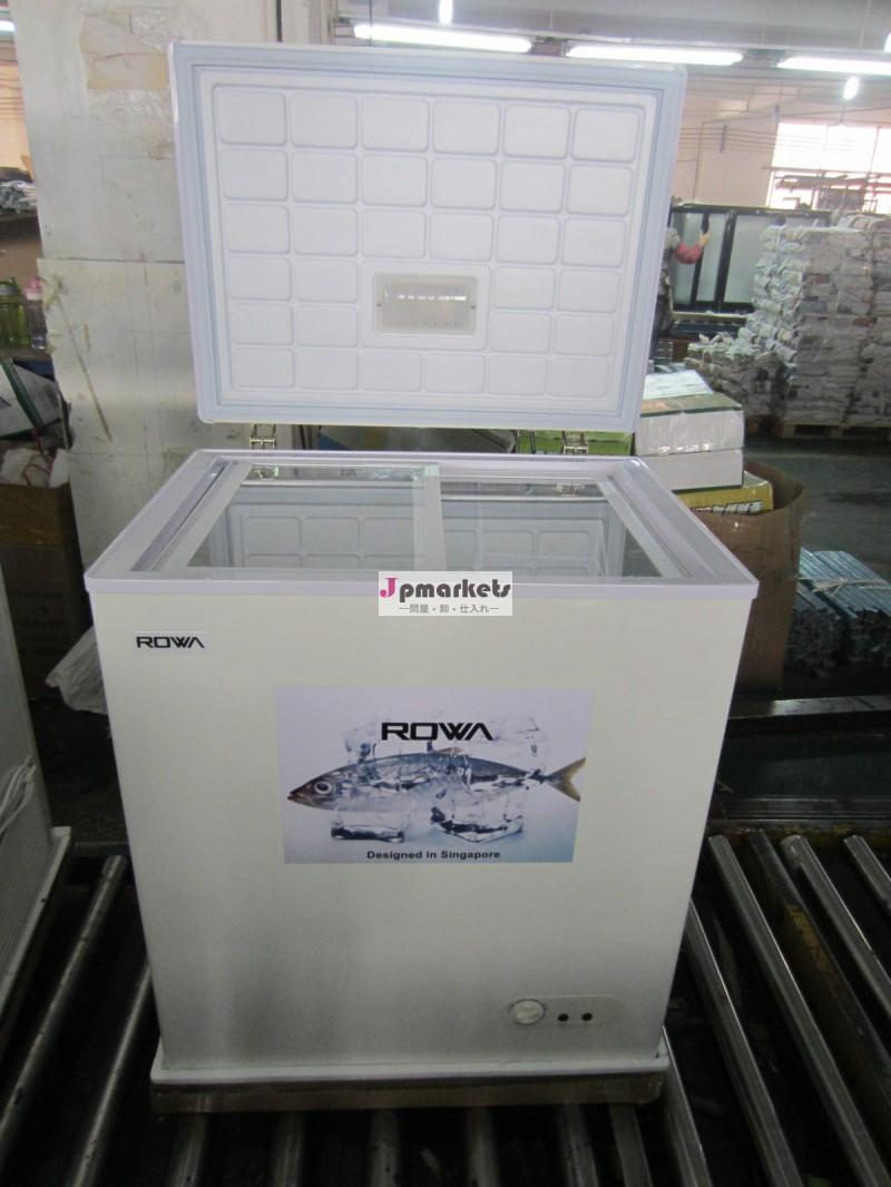 スーパーマーケットアイスクリームハードトップドア付き冷凍庫、 室内灯とガラスドアbd/bg-150問屋・仕入れ・卸・卸売り
