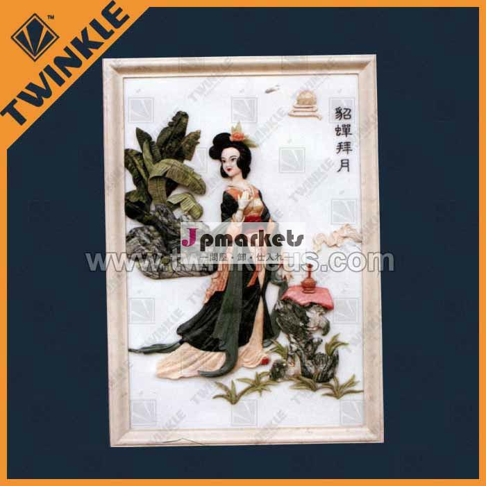 天然オニキス石のレリーフ装飾的な人物画問屋・仕入れ・卸・卸売り
