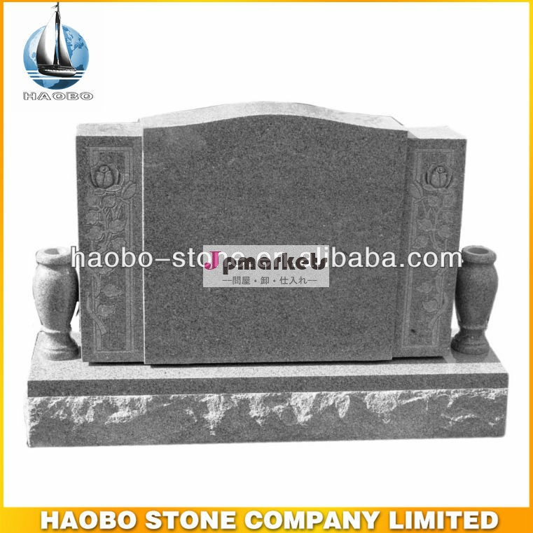 最適な素材灰色の花崗岩の墓石を彫られた良い価格問屋・仕入れ・卸・卸売り