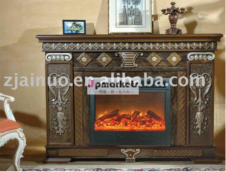 最新のヨーロッパスタイル自立型の木製フレーム電動コア家具家庭の暖房の暖炉のマントルピース問屋・仕入れ・卸・卸売り