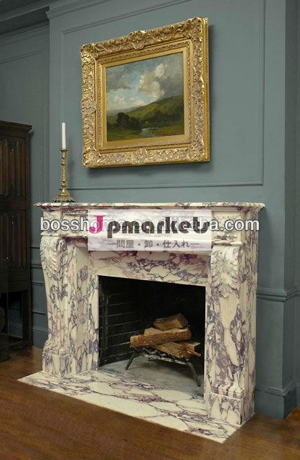 イタリアの石のcalacatta白い大理石の暖炉のマントルピースの暖炉問屋・仕入れ・卸・卸売り