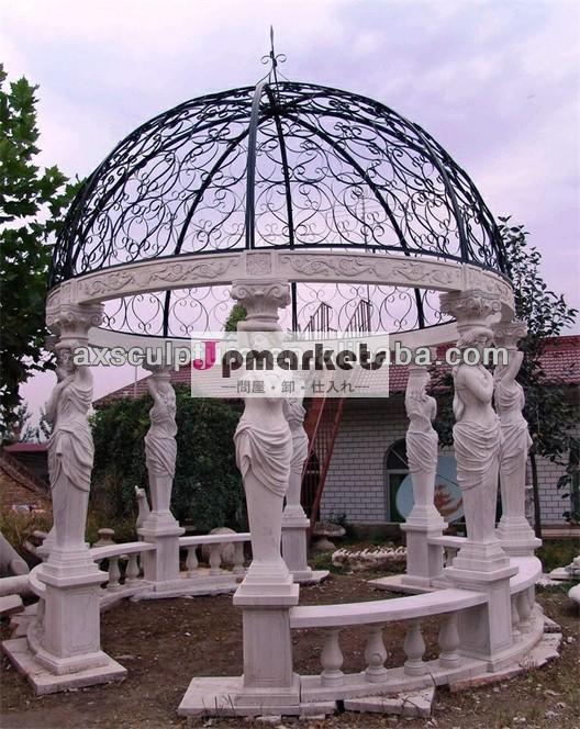 白の大理石のパビリオン- スポット供給、 の彫刻問屋・仕入れ・卸・卸売り