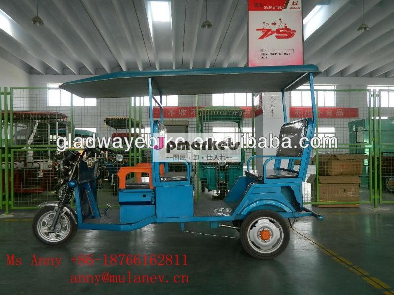 最新の電動三輪車、 人力車バッテリー駆動、 電動人力車850Wインド市場向け問屋・仕入れ・卸・卸売り