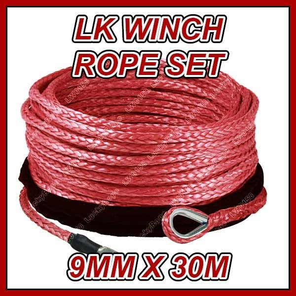 Lkser0006、 赤い色ウインチロープセット、 メートルの長さ×309mmutvウインチ- lw0158問屋・仕入れ・卸・卸売り