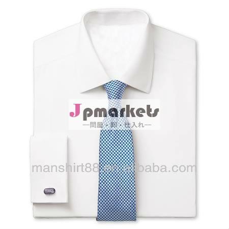 スリムフィットコットンポプリン白メンズドレスシャツ問屋・仕入れ・卸・卸売り