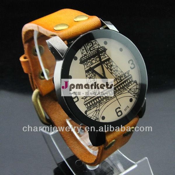 本物の牛革ストラップファッションギフトクォーツ腕時計wl-083愛好家問屋・仕入れ・卸・卸売り