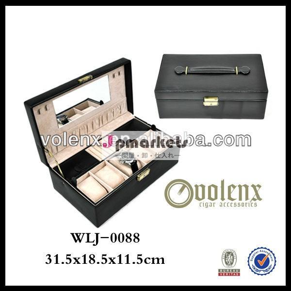 高品質の明確なアクリルのギフトを持つ黒の革の腕時計ボックス( sgs・bv)問屋・仕入れ・卸・卸売り