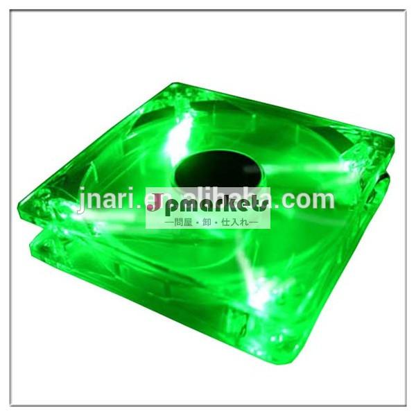 超高輝度緑クワッド120mm4-led明確なpcケース、 コンピュータクーラーのファン問屋・仕入れ・卸・卸売り