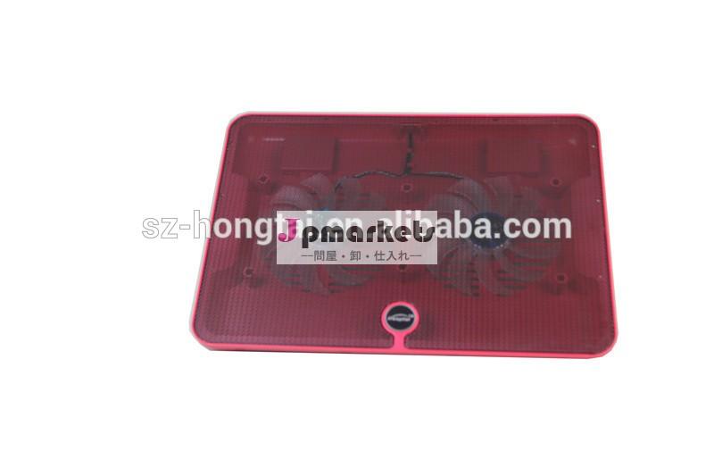 熱い販売超- 薄いusbledダブルファンのラップトップ冷却パッド冷却ファン問屋・仕入れ・卸・卸売り