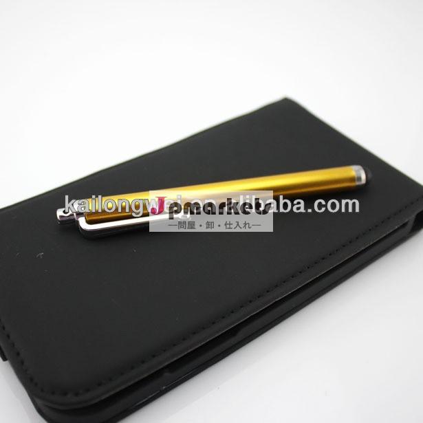 ミニ付きスタイラスペン柔らかいシリコーンチップアプリiphoneipod用金属スタイラスペンミニタブレットのタッチスタイラスペン11色問屋・仕入れ・卸・卸売り