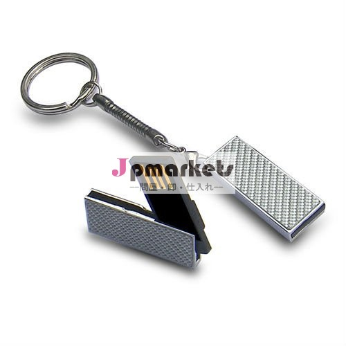keychainが付いている熱いOEMの携帯用細い金属USBのフラッシュドライブ8g16g32g問屋・仕入れ・卸・卸売り