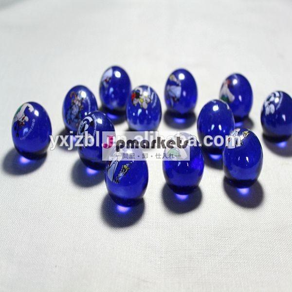 印刷ガラスのビー玉、 澄んだ青い問屋・仕入れ・卸・卸売り