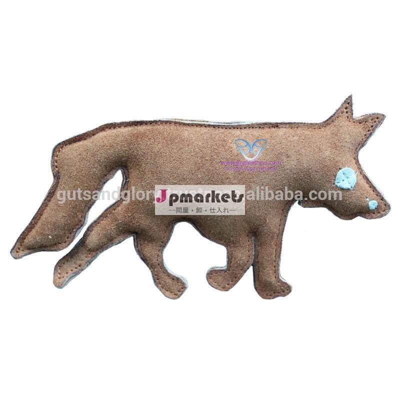 スエードレザーおもちゃ狐の形状。問屋・仕入れ・卸・卸売り