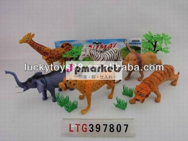 6個のプラスチックバルクプラスチック動物のおもちゃ問屋・仕入れ・卸・卸売り