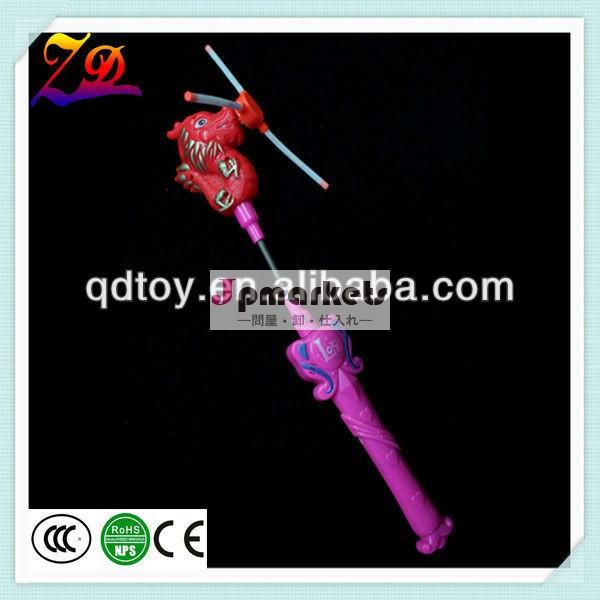led赤い音楽のプラスチックのおもちゃの風車問屋・仕入れ・卸・卸売り