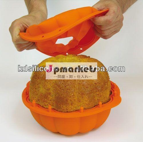 シリコンカボチャの3dケーキ型、 キュートなデザインハロウィンケーキトレイ金型のサプライヤ、 kangdeケーキ型工場。問屋・仕入れ・卸・卸売り