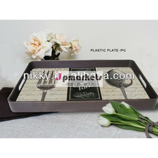 レトロの小さい花のプラスチックサービングの皿、独特なプラスチッククッキーの皿問屋・仕入れ・卸・卸売り