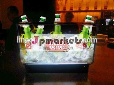 カスタマイズされた正方形のアクリルledアイスバケットワイン用、 ビール、 シャンパン問屋・仕入れ・卸・卸売り
