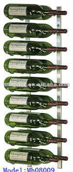 マグナム18ウォールマウントの金属のワインボトルホルダー問屋・仕入れ・卸・卸売り