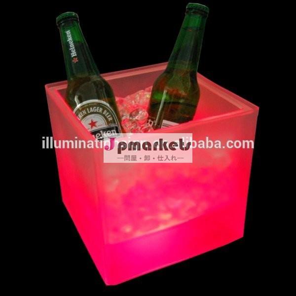 卸売アクリル大型led正方形のワインボトルのアイスバケット中国工場問屋・仕入れ・卸・卸売り