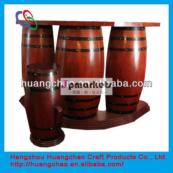 木製の樽が使用バーカウンターのデザイン問屋・仕入れ・卸・卸売り