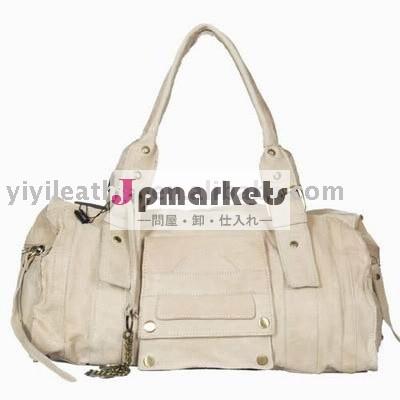 30648白革の女性トートバッグ、 良質の女性の本革のバッグハンドバッグ問屋・仕入れ・卸・卸売り