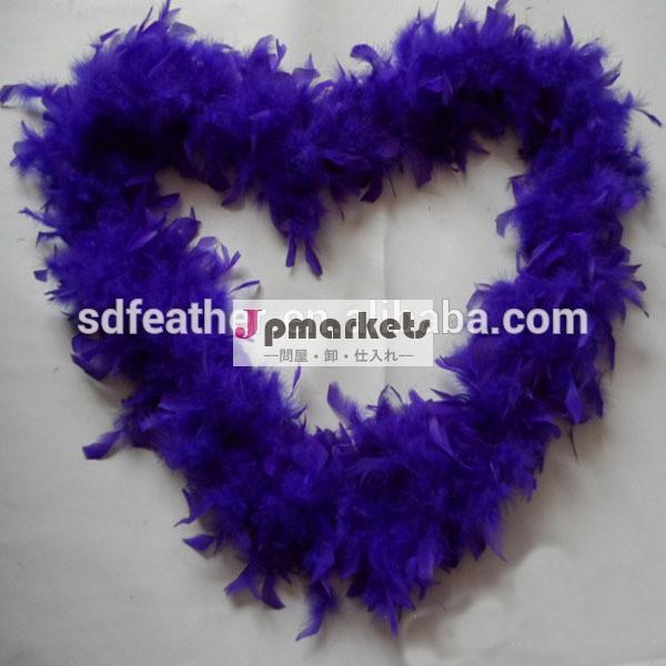 送料無料。 の羽毛ダウン40グラムを2ヤード/pcs七面鳥の羽の装飾、 紫アフリカハゲコウボア七面鳥問屋・仕入れ・卸・卸売り