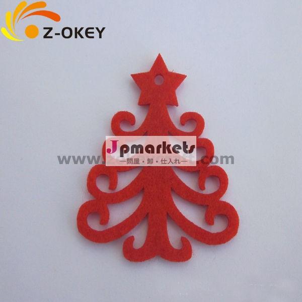 クリスマスツリーの形decoratrionクリスマスフェルトペンダント問屋・仕入れ・卸・卸売り