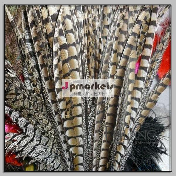 長い金色のfeilang全体の販売のために羽をキジの装飾問屋・仕入れ・卸・卸売り