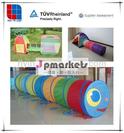 防水子供のプレイタイムのクロールのトンネルプラスチックウォームギアプレイテント問屋・仕入れ・卸・卸売り