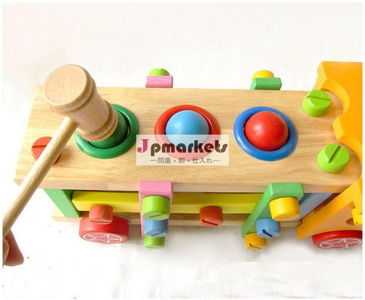 木製の子どもたちを分解分解組み立てアセンブリ- 車両マルチ- ノック車のボールねじ問屋・仕入れ・卸・卸売り