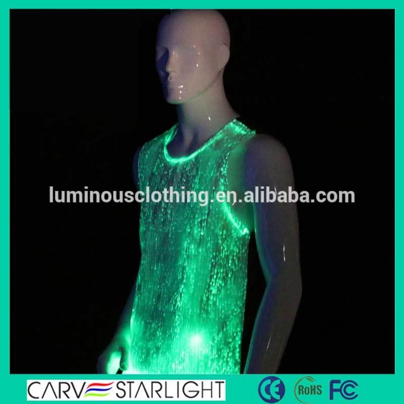 ハイテク発光光ファイバーパーティ摩耗シャツ男性用-作業着問屋・仕入れ・卸・卸売り