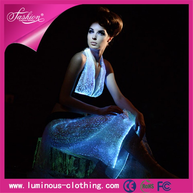光ファイバー衣類ledライト発光セクシーナイトドレスが-作業着問屋・仕入れ・卸・卸売り