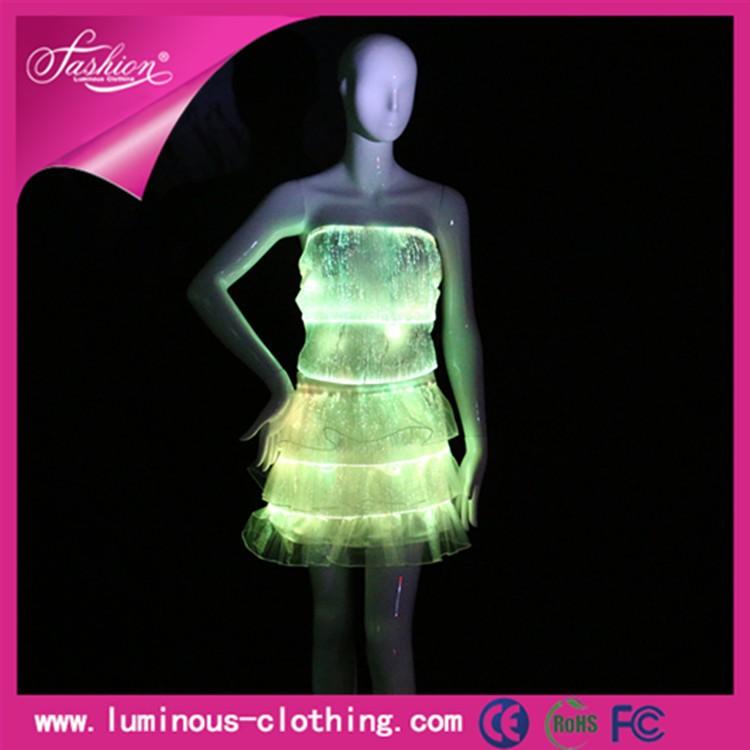 ラテンの社交ドレス照明発光セクシーなダンスの摩耗-作業着問屋・仕入れ・卸・卸売り