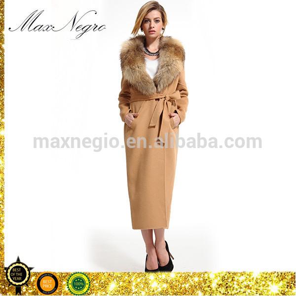 ハンドメイドカシミア2015maxnegio女性の冬のコートのファッションヨーロッパ-コート問屋・仕入れ・卸・卸売り