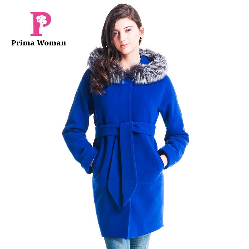 秋と冬2015女性ミディアムシルバーフォックスファー取り外し可能な長さの襟の帽子カシミヤオーバーコート-コート問屋・仕入れ・卸・卸売り