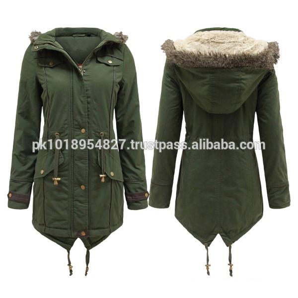 陸軍婦人良質の着心地の良いパーカコート冬用ジャケット-コート問屋・仕入れ・卸・卸売り