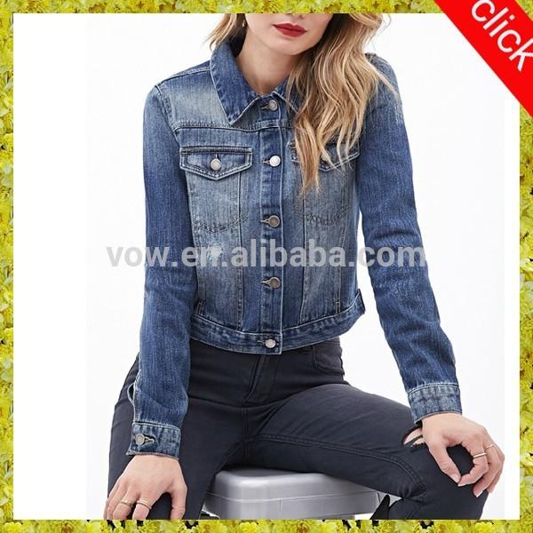 若い少女の短い2015最新のデニムジーンズのジャケット卸売-ジャケット問屋・仕入れ・卸・卸売り