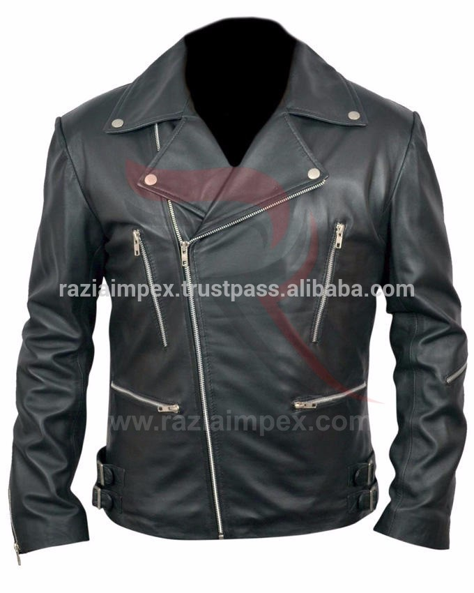 黒革クラシックマーロンバイカーの革のジャケット-ジャケット問屋・仕入れ・卸・卸売り