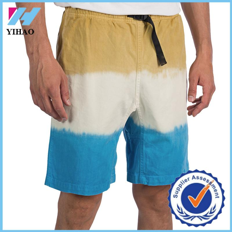 ファッションカスタムyihaoホットメンズショートパンツプラスサイズのディップスポーツジョギングズボンだぶだぶ成桂コットンツイルアクティブワークアウトの服-ショーツ問屋・仕入れ・卸・卸売り